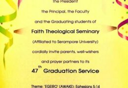 2018 Faith Theological Seminary Manakkala Graduation