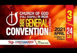 2021 CGI Kerala Region Convention–Saturday